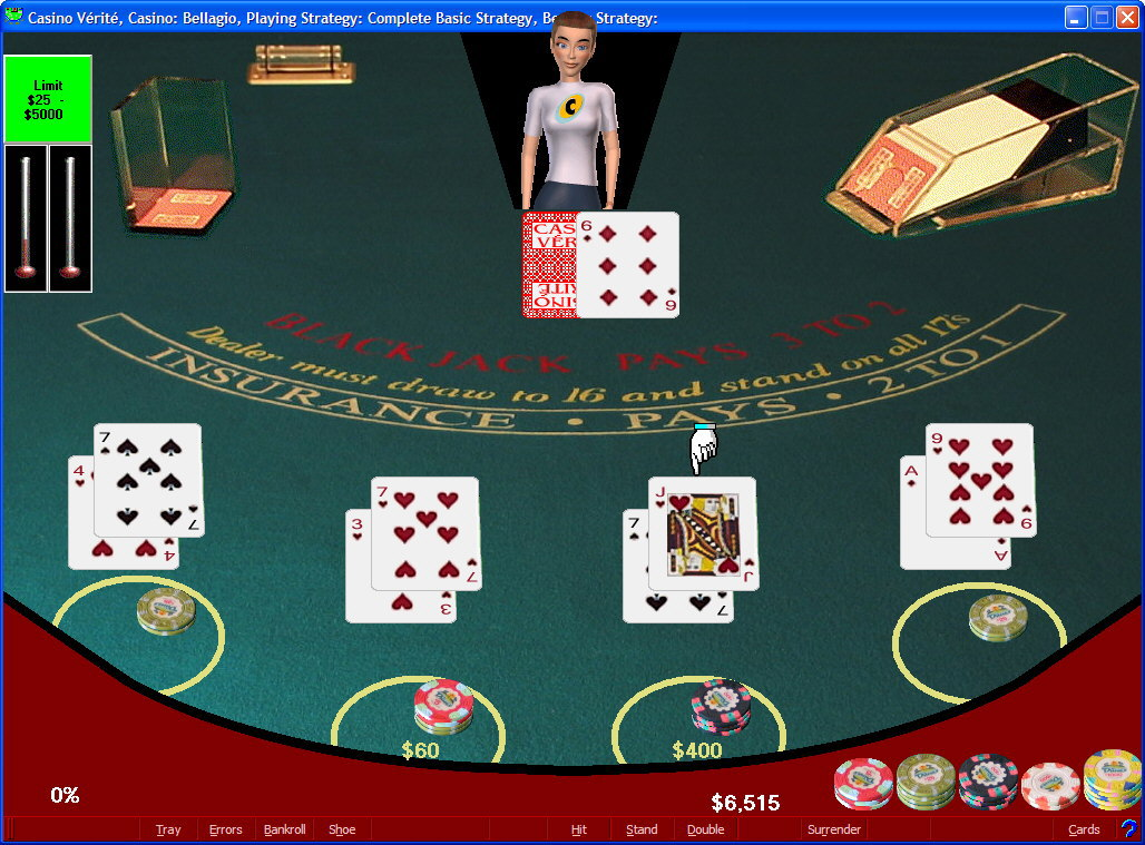 Click to view Casino Verite Blackjack 3.01 screenshot